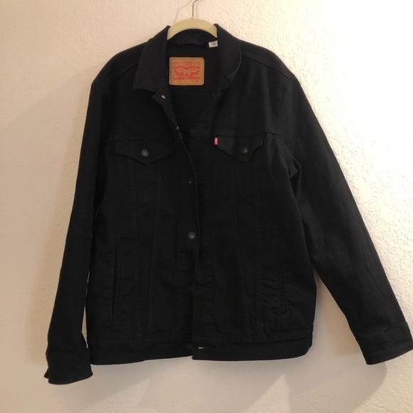 Levis Black Denim Jacket sz XL